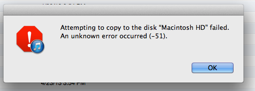 What. This is worse than every Windows error message ever. There's not even a KB article I can reference, you know?