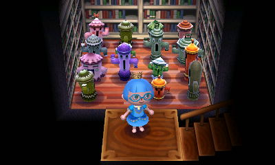 My Animal Crossing basement full of gyroids.