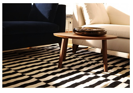 The striped Stockholm rug from Ikea.